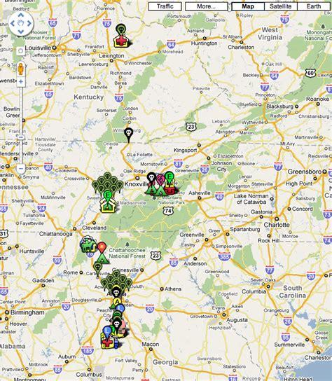 walking dead filming locations map the walking dead map guide geektyrant