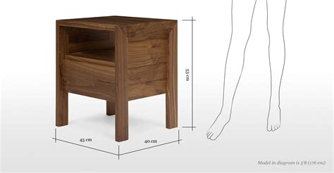 height of bedside table ledger bedside table walnut made com
