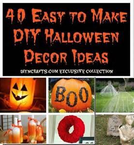 Halloween Easy To Make Decorations 40 Easy To Make Diy Halloween Decor Ideas