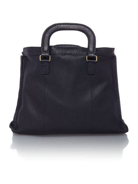 Bag Tote Navy ted baker blue gaitier navy large tote bag lyst