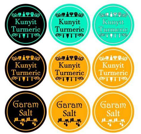 Bahan Sticker label bahan dapur desainrumahid