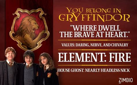 Harry Potter Quiz House by Which Hogwarts House Do You Belong In Quizes House And
