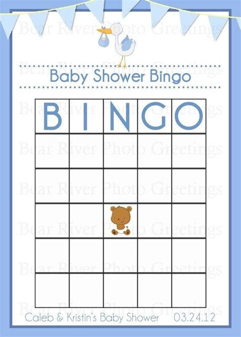 baby bingo card template baby shower blank bingo cards printable