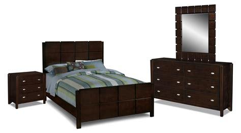 Mosaic Bedroom Furniture Mosaic 6 Bedroom Set Brown American Signature Furniture
