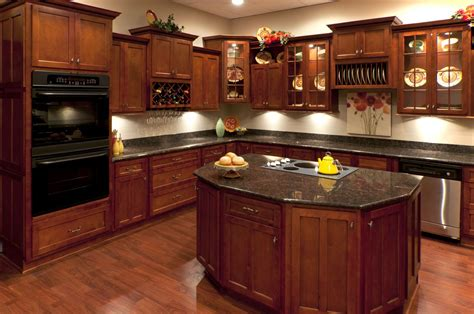 kitchen awesome cherry wood kitchen cabinets home depot