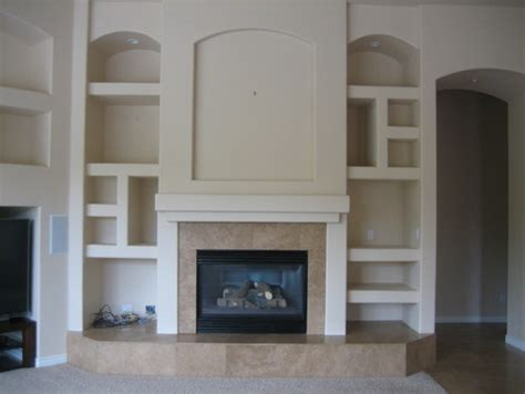 Fireplace Niche by Family Room Fireplace Niche Wall Before And After