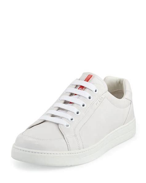 prada white sneakers prada avenue white leather low top sneaker