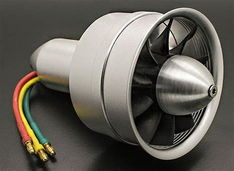 rc ducted fan engine alloy dps 64mm 10 blade electric ducted fan assembley 3300kv