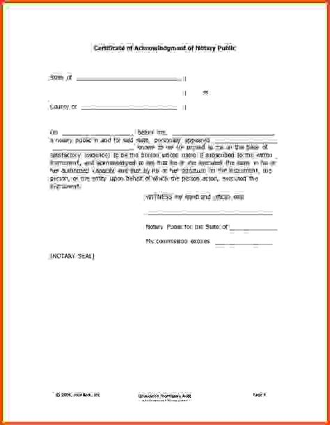 sle notary statements notarized letter template 8