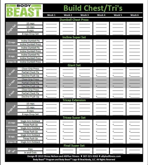 beast workout sheet beast workout sheets your progress with the new