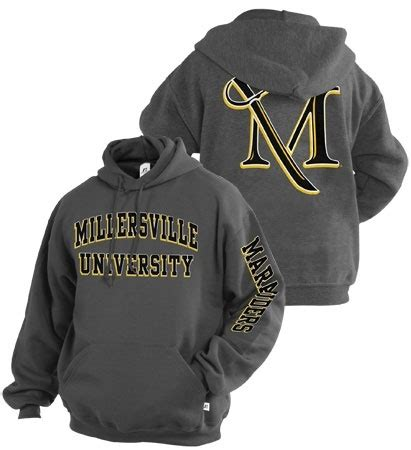 Tshirt Viol Nc Point Store chilly out bundle up with a millersville hoodie black