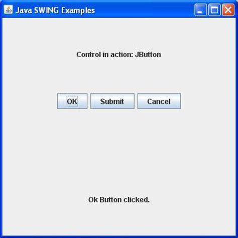 java swing event swing event handling