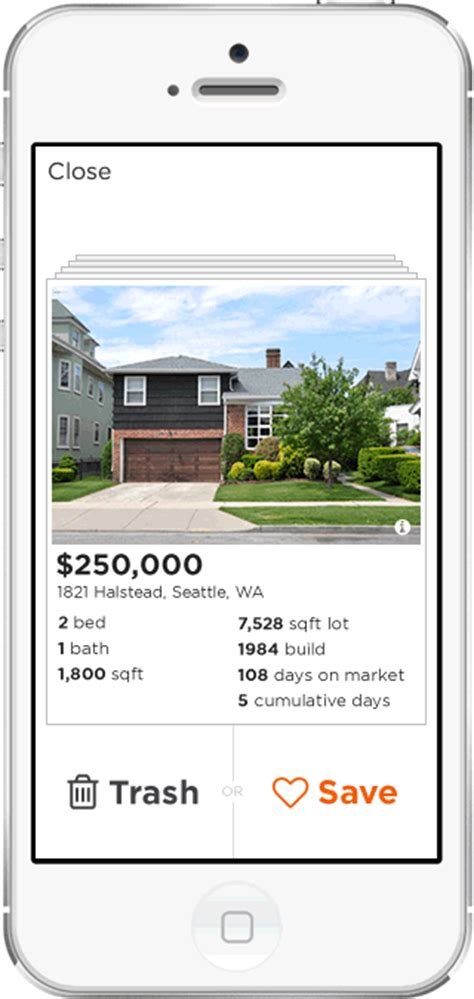 tinder for real estate estately launches flip a tinder for real estate techcrunch