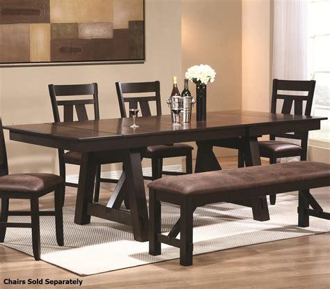 coaster 102651 black wood dining table a sofa