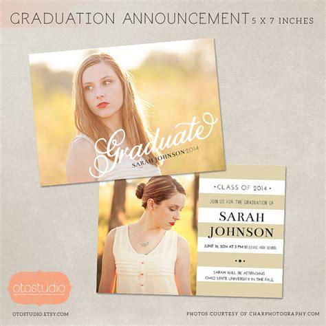 graduation card template landscape psd senior graduation announcement template for photographers psd