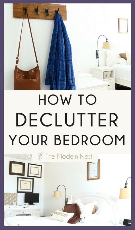 declutter  bedroom    peaceful space