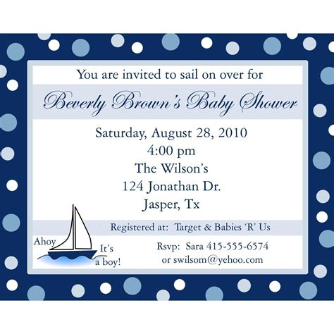 unique baby shower invitations for boys 20 personalized baby shower invitations ahoy its a boy