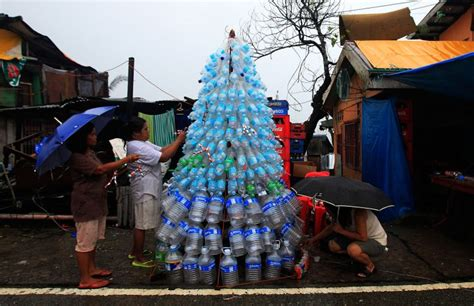 christmas tree images philippines typhoon ravaged philippines villages celebrate time