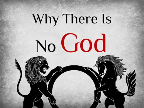 why there is no why there is no god introduction youtube