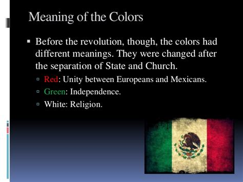 colors of the mexican flag the flag