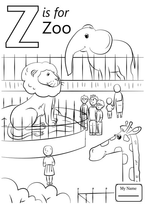 Z Zebra Coloring Page by Letter Z Is For Zipper Coloring Book Free Pages Printable