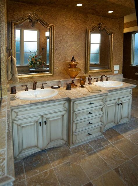 Custom Vanities For Bathrooms by Master Bath With His Hers Sinks Baths Laundry