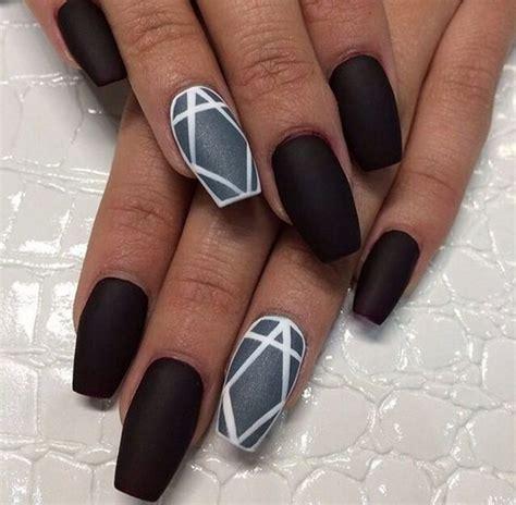 matte black nail designs 60 pretty matte nail designs