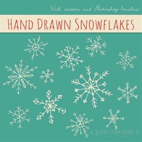 Clip Snowflake Vector Winter Wedding