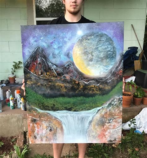 spray paint on foam board stargazing nights spray paint 36x48 foam board