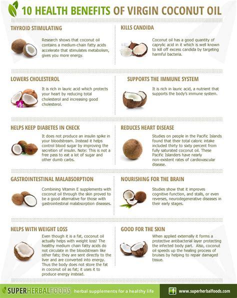 coconut oil 10 virgin coconut oil benefits infographic