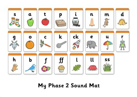 phase 2 3 sound mat letters and sounds primary