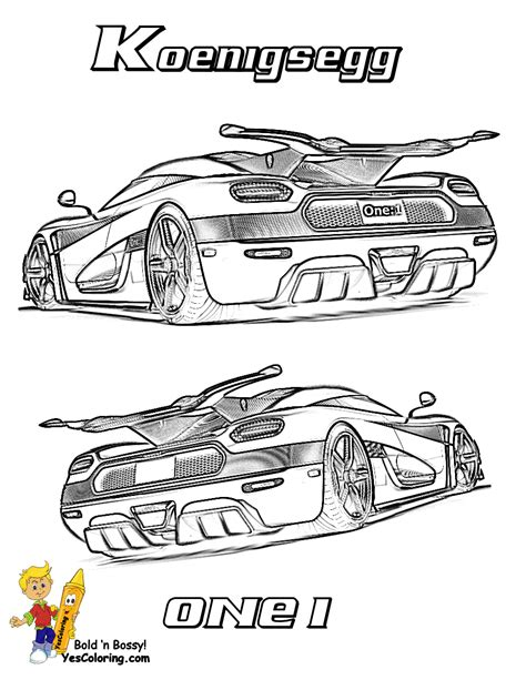 koenigsegg one drawing striking supercar coloring free super cars coloring