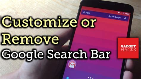 remove bar android customize or remove the now search bar on android how to