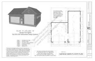 Garage Blueprints by Free Garage Plans Sds Plans Part 2