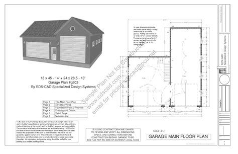 garage building plan free garage plans sds part house plan g303 18x45 1424x285