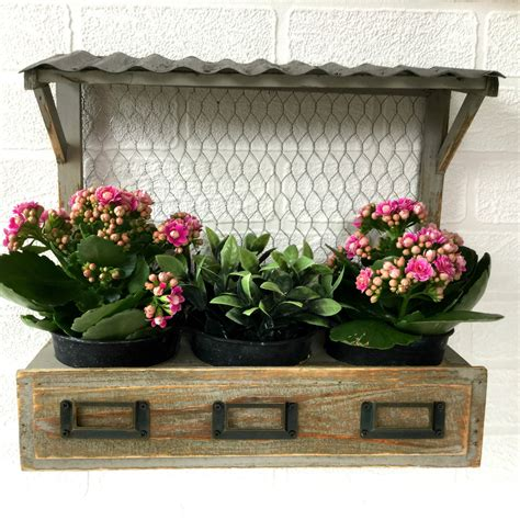 Shabby Chic Garden Planters by Vintage Syle Shabby Chic Window Box Wall Planter Pots