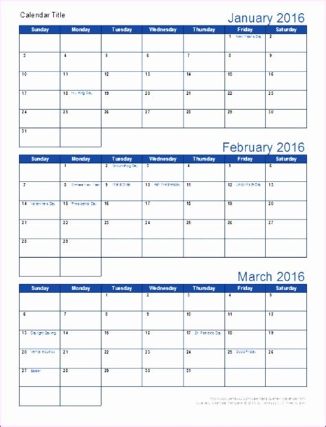 6 3 Month Calendar Template Excel Exceltemplates Exceltemplates 6 Month Calendar Template Excel