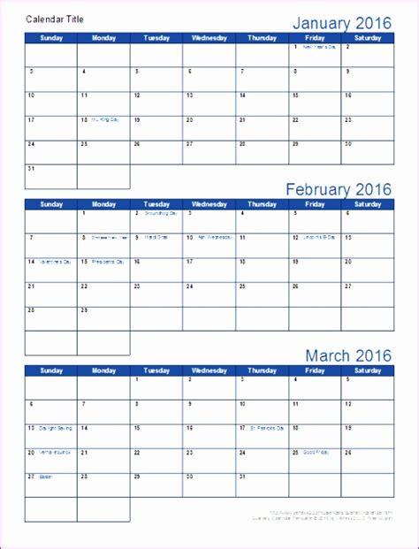 calendar template by vertex42 6 3 month calendar template excel exceltemplates