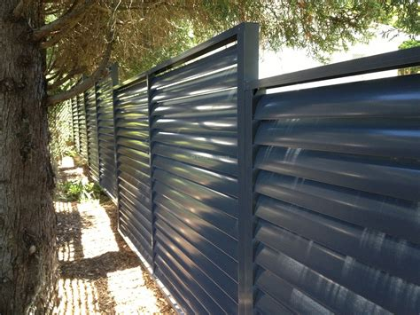 Patio Gable Roof Louvers Fence With Fixed Welded Louvers Eco Awnings