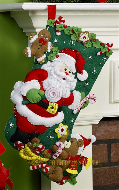 bucilla christmas santa teddy 18 quot bucilla felt kit 86448 fth international sales ltd