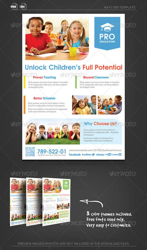 pro education flyer template unlock potential flyer