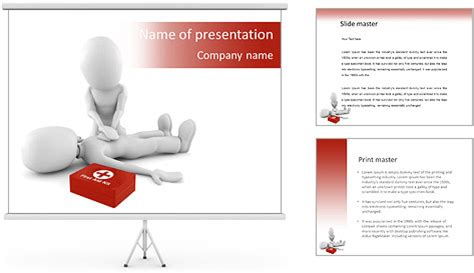First Aid Help Powerpoint Template Backgrounds Id Aid Powerpoint Template