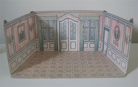 doll house template paper model dollhouse