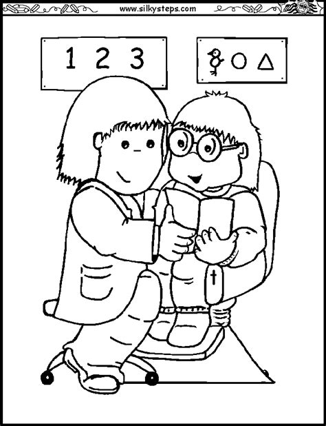 preschool eye coloring page eye doctor coloring page coloring home