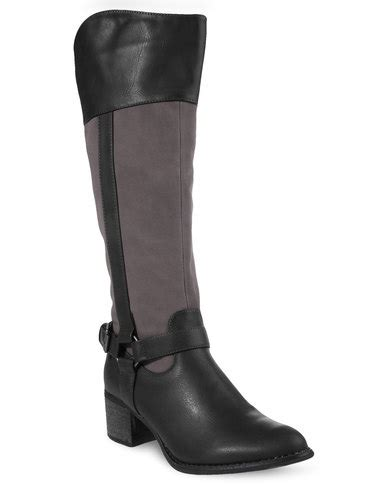 Boots Rage Black rage faux leather high heeled boots black zando