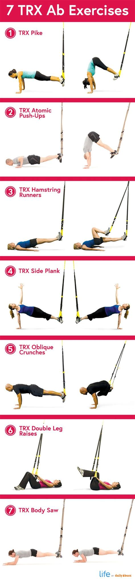 7 Exercises For The by No More Sit Ups 7 Trx Exercises To Work Your Abs Trx