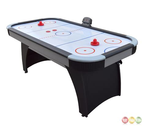 Silverstreak 6 Ft Grey Air Hockey Table With Electronic