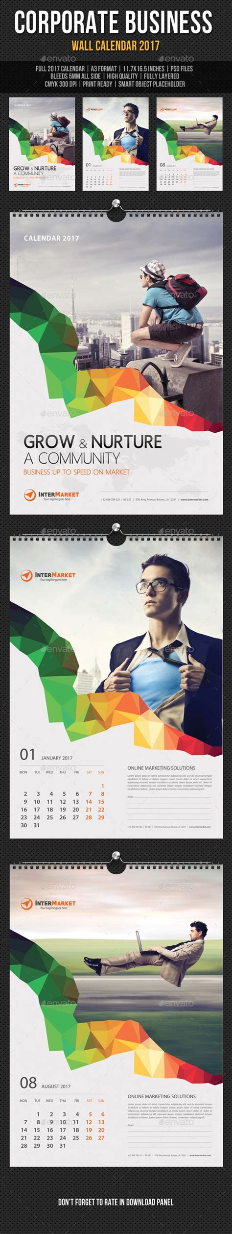 Calendar 2018 Template Design 11 Best Corporate Calendar Design Images On