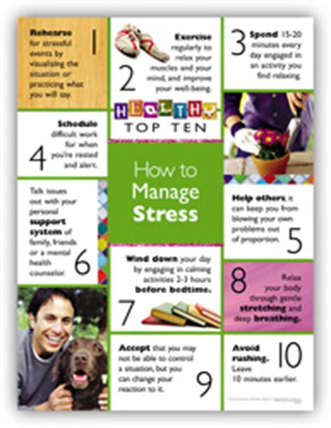 7 top tips for managing information personal best posters managing stress