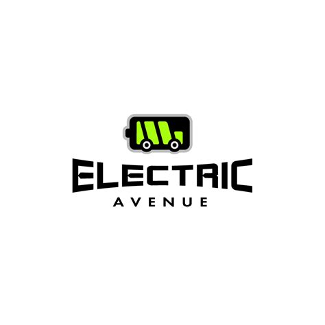 electric vehicles logo electric avenue car logo design logo cowboy